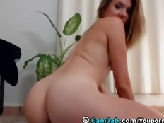 Cute Blonde Teen Masturbating